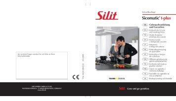 Gebrauchsanleitung Sicomatic® t-plus - Silit