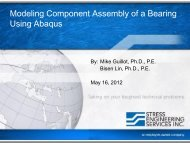 Modeling Component Assembly of a Bearing Using Abaqus - SIMULIA
