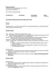 dienst secretariaat Aan de leden van de ... - Stad Sint-Niklaas