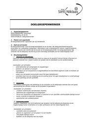DOELGROEPENWERKER - Stad Sint-Niklaas