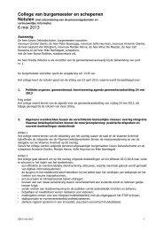 College van burgemeester en schepenen 6 mei ... - Stad Sint-Niklaas