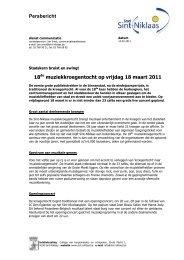 Persbericht 18de muziekkroegentocht op vrijdag ... - Stad Sint-Niklaas