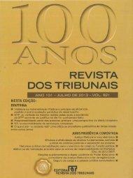 100 anos - Revista dos Tribunais - Siqueira Castro - Advogados