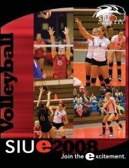 08 vball cover.indd - Southern Illinois University Edwardsville