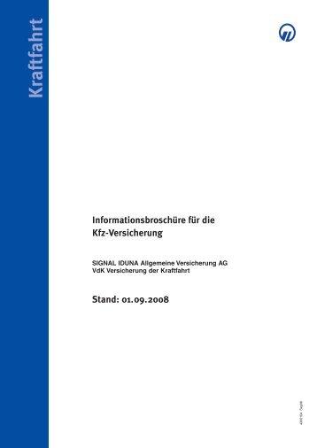 Informationen Zur Kfz Versicherung Signal Iduna