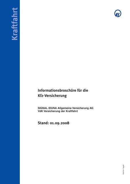 Informationsbroschure Fur Die Kfz Versicherung Signal Iduna