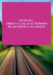 För din skull stänger vi tillfälligt av tågtrafiken mellan Södertälje ... - SJ