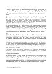 Information till allmänheten om oexploderad ammunition