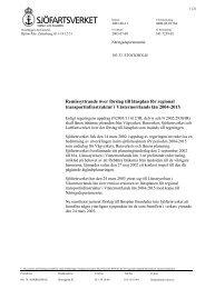 Remissyttrande över förslag till länsplan för regional ... - Sjöfartsverket