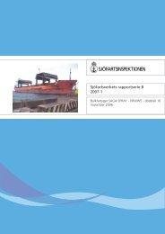 Bulkfartyget SAGA SPRAY - VRWW5 - dödsfall - Sjöfartsverket