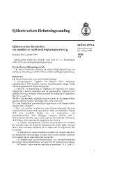 SJÖFS 1999:2 - Sjöfartsverket