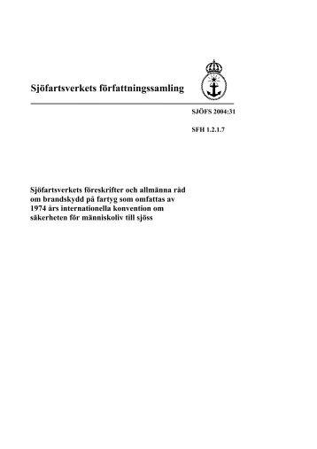 SJÖFS 2004:31 - Sjöfartsverket