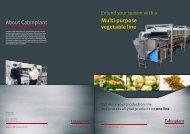 Multipurpose vegetable line - Cabinplant