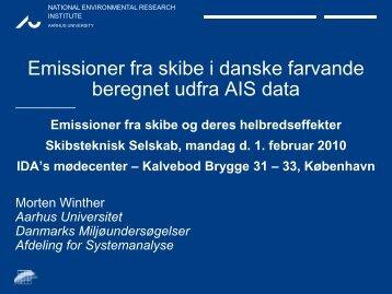Emissioner fra skibe i danske farvande beregnet udfra AIS data