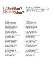 Der er et yndigt land. Tekst: Adam Oehenschläger, 1819 Melodi ...