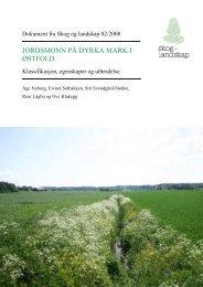 JORDSMONN PÅ DYRKA MARK I ØSTFOLD - Skog og landskap