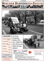VEREINE - Berliner Behindertenzeitung