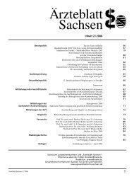 Ärzteblatt Sachsen 02/2006 - Sächsische Landesärztekammer