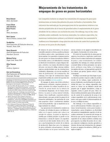 Mejoramiento de los tratamientos de empaque de grava en pozos ...