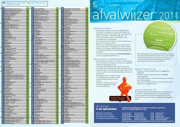 digitale versie van de afvalwijzer 2011 - Gemeente Sliedrecht