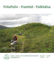 Friluftsliv framtid folkhälsa.indd - SLU