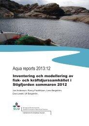 Aqua reports 2013:12 - SLU