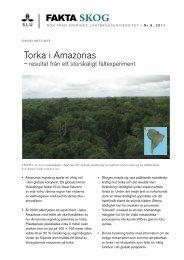 Torka i Amazonas - resultat från ett storskaligt fältexperiment - SLU