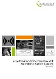 Vejledning for Airline Company VHF Operational ... - Trafikstyrelsen
