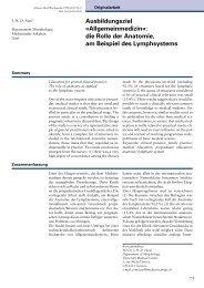 1999-20 Ausbildungsziel «Allgemeinmedizin». Die Rolle der ...