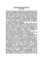 Dra. Olga María Muras Portas. - Sindicato Médico del Uruguay