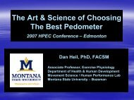 The Art & Science of Choosing The Best Pedometer - Montana State ...
