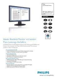 220EW8FB/00 Philips LCD-Breitbild-Monitor - Snogard