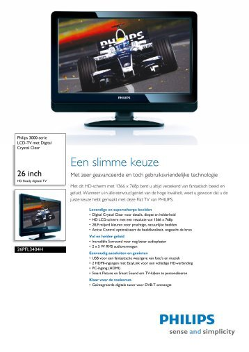 26PFL3404H/12 Philips LCD-TV met Digital Crystal Clear - Snogard