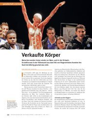 Verkaufte Körper - Schweizerischer Nationalfonds (SNF)