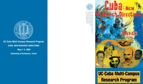 Cuba: New Research Directions - School of Social Sciences ...