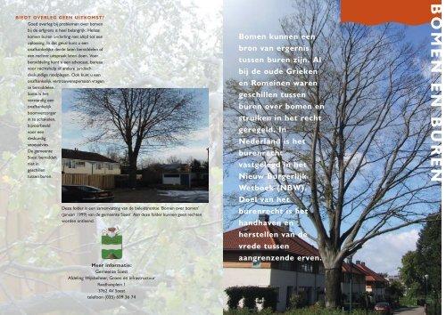 Bomen Op Erfgrens.Bomen En Buren Gemeente Soest