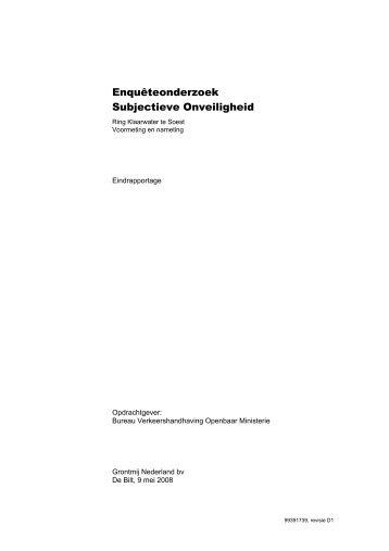 Enquêteonderzoek Subjectieve Onveiligheid - Gemeente Soest