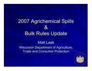 2007 Agrichemical Spills & Bulk Rules Update - Department of Soil ...
