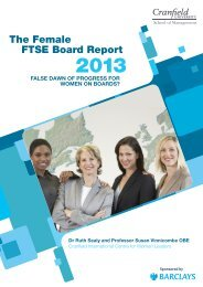 The Female FTSE Board Report - Cranfield School of Management ...