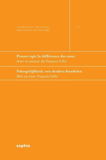 Een weerzien van Françoise Collin / Magda Michielsens (pdf - Sophia