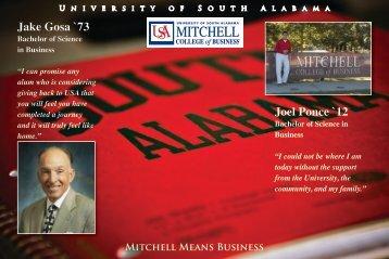 Jake Gosa `73 Joel Ponce `12 - University of South Alabama