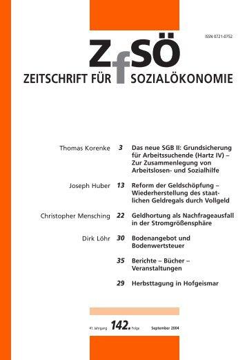 ZEITSCHRIFT FÜR SOZIALÖKONOMIE 142.