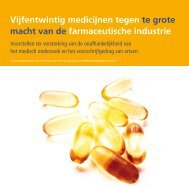 25 Medicijnen tegen te grote macht van de farmaceutische ... - Sp