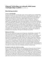 Beschrijving uitspraak Tuchtcollege inzake ... - GGZ Nederland