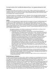 Concept advies IGZ hoofdbehandelaarschap in de ... - GGZ Nederland