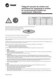 Tillägg till manualer för enheter med köldmedium för uppfyllande av ...