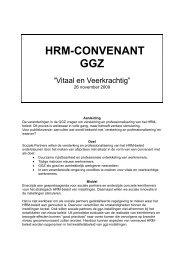 HRM convenant ggz.pdf - GGZ Nederland