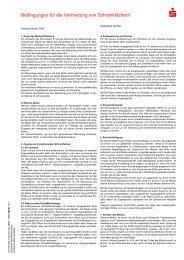 Bedingungen für die Vermietung von Schrankfächern - Sparkasse ...