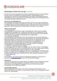 Modelreglement clientenraad.pdf - GGZ Nederland