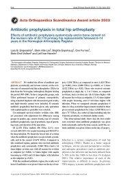 Antibiotic prophylaxis in total hip arthroplasty